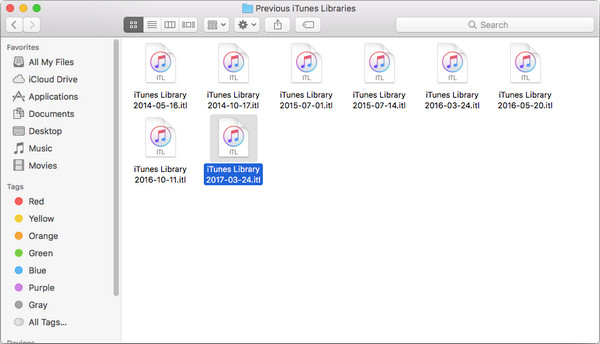 iTunes Library (更新日付).itlをiTunes フォルダにコピーする